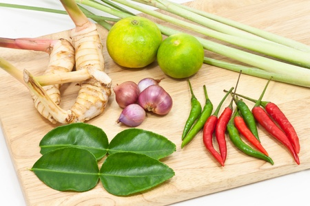 Tradition thai herb for Tomyam cuisine photo