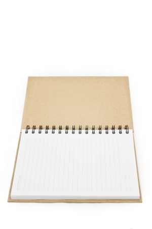 Blank notebook with lines on white isolated Stock Photo - 9447207