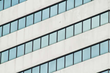 Abstract building with glass window photo