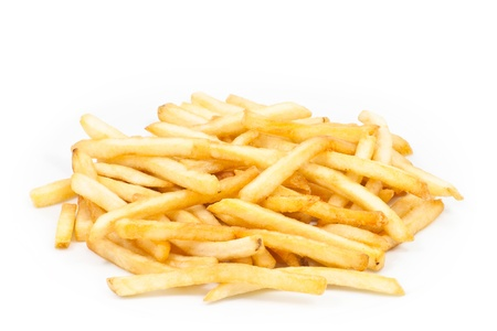 French Fries  on white background photo