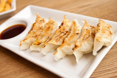 gyoza: Dim-sum call Gyoza, asian tradition food