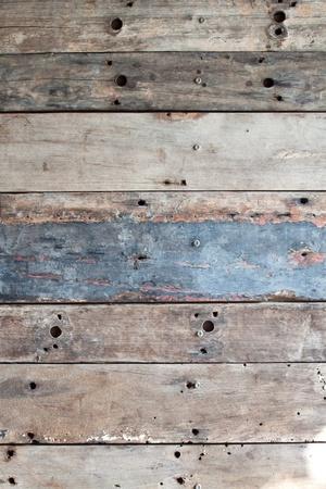 Old grunge wood texture interior Stock Photo