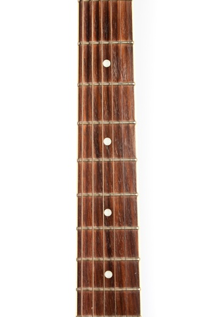 Guitar fret pn white background