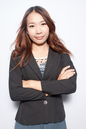 Self Confident asian young business woman photo