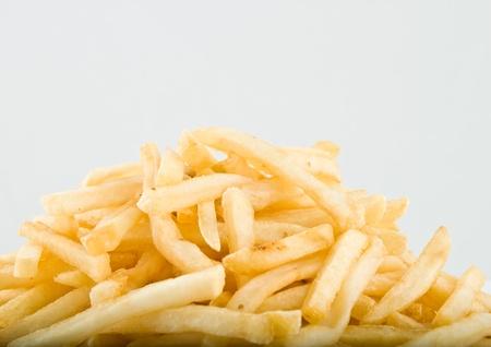 Pile  of big potato french fries photo