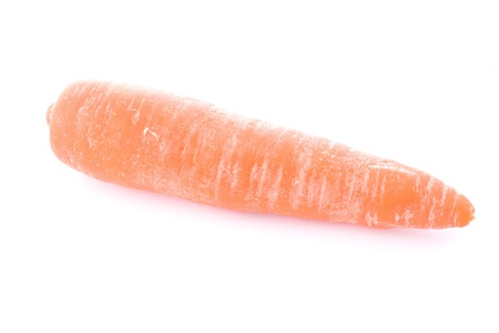 Raw fresh carrot on white background Stock Photo - 17602201