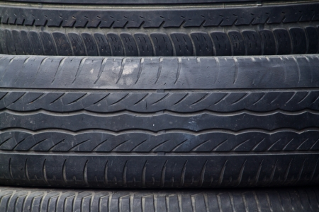 Detail of black tire texture Stock Photo - 19243350
