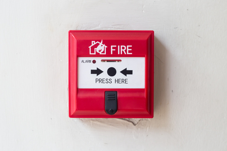 fire alarm: Fire alarm box on  the wall Stock Photo