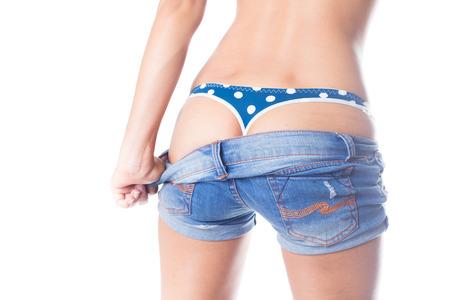 Sexy fashion model in sexy g-string photo