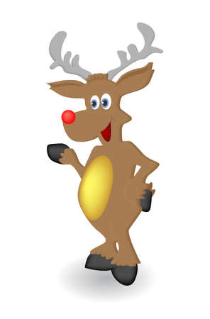 Vector Illustration of Christmas reindeer