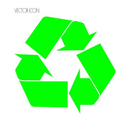 Recycle Symbol, Isolated On White Background, Vector Illustration Çizim