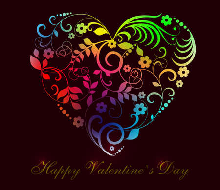 sweet colorful heart, happy valentines day celebration background image.