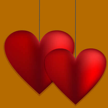 Happy Valentine's day card hearts light vector background.