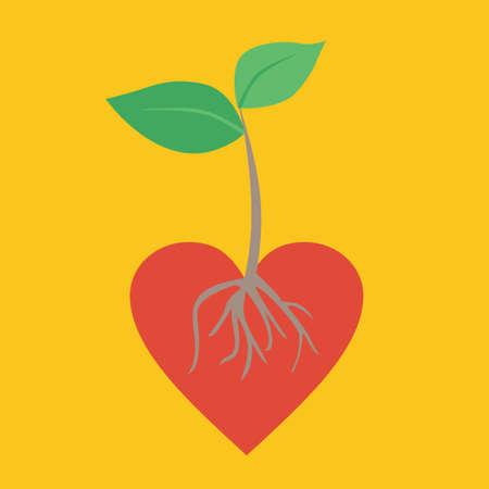 건강한 생활. 벡터 개념입니다. 건강한 심장.
