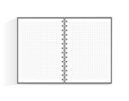Template for advertising, branding and corporate identity. Realistic spiral notepad. Blank mock up for design. Open cardboard notebook.  イラスト・ベクター素材