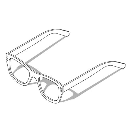 Sunglasses. Vector illustration in isometric style. UV protection or reading glasses. Glasses with shadow on isolated white background.  イラスト・ベクター素材