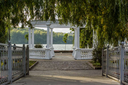 gazebo symmetry park outdoor space architectural object calm place for walking