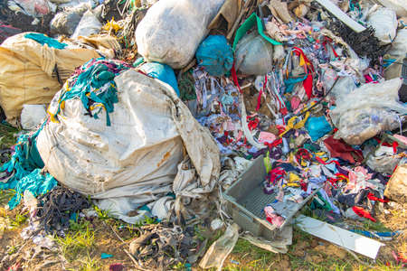 dump garbage background objects view ecology disaster reason concept picture.