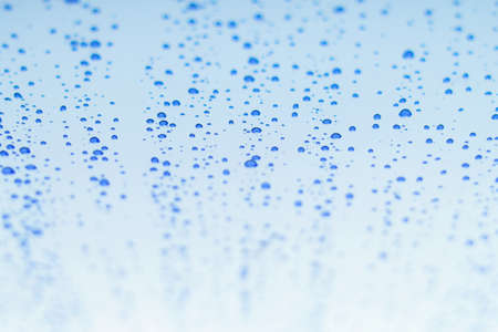 water bubbles blue white gradient perspective surface simple background abstract wallpaper view copy space