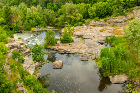 national park summer scenic view landscape rocky canyon plateau and river waters nature photography from above