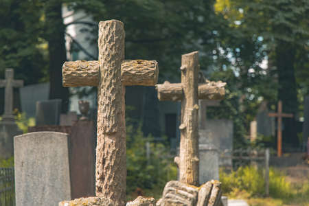 cemetery cross outdoor scenic view grave yard space