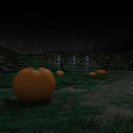 dancing skeletons halloween atmosphere