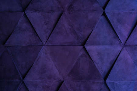 Abstract modern background from different lines in the light of neon lamps. Static geometric shapes