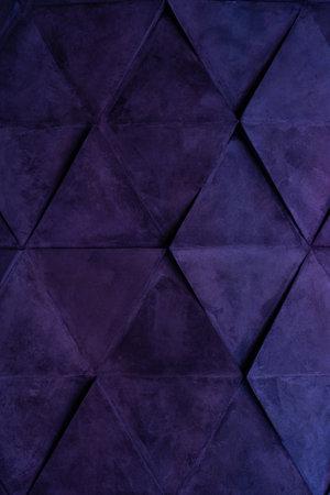 Structural background of lines, illuminated in purple. Conceptual modern loft interior design Imagens