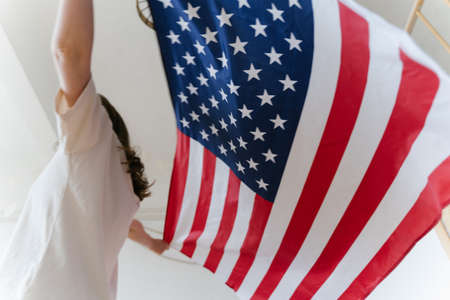 The American flag. Independence, Honour and Democracy