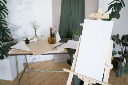 Start drawing. Empty white canvas. The work of imagination