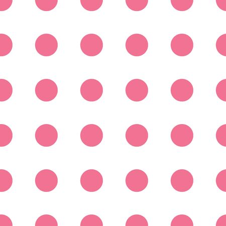 Seamless geometric pink balls pattern. Repeating geometric symmetric ornament. Tiled back. Repeatable design for decor, fabric, textile, wallpapers, cloth. 일러스트