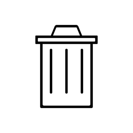 Trash can outline icon isolated.