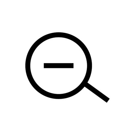 Zoom out outline icon isolated.