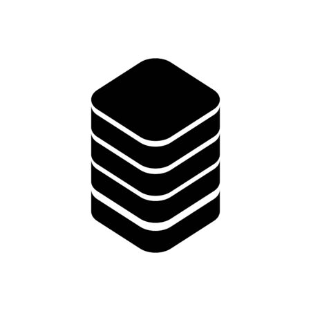 Storage outline icon isolated.