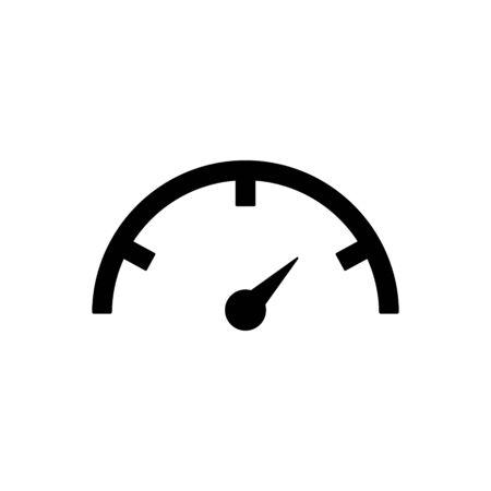 Icono de esbozo de velocímetro aislado. Ilustración de vector