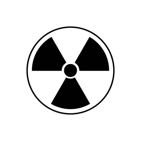 Hazard outline icon isolated.