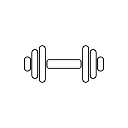 Dumbbell outline icon isolated. Vectores