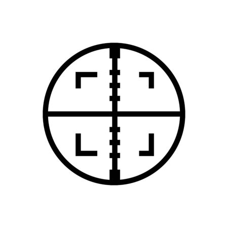 Aim outline icon isolated.