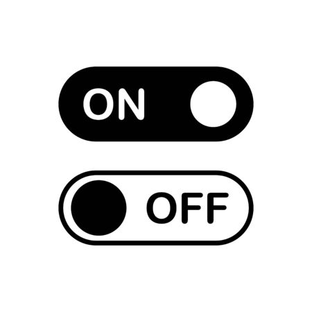 On off outline icon isolated.