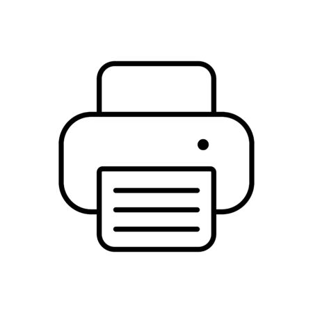 Printer outline icon.