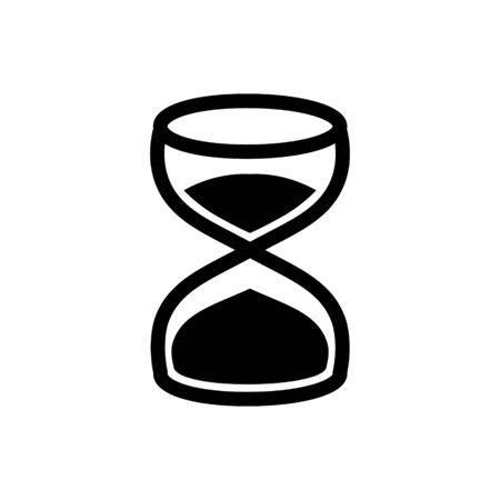 Hourglass outline icon.