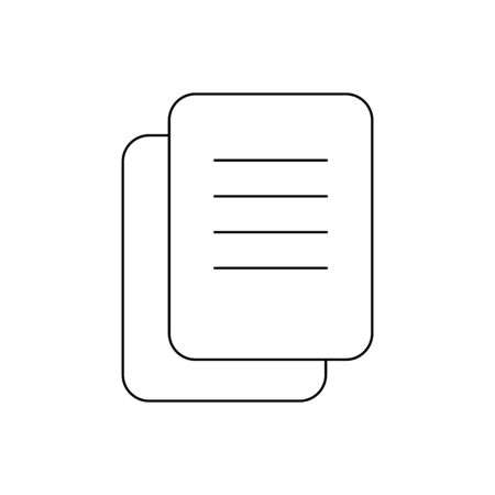 Document outline icon isolated.