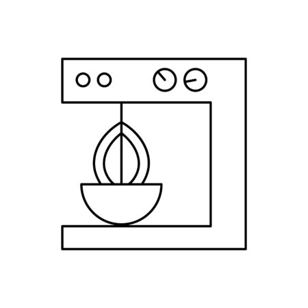 Mixer outline icon isolated.