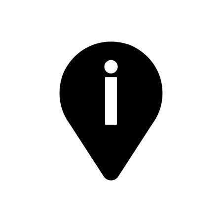 Info map pointer outline icon isolated.