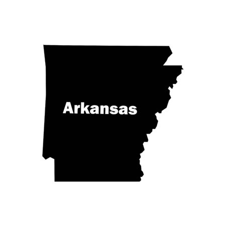 Arkansas outline icon isolated. Symbol, logo illustration for mobile concept and web design. Ilustrace