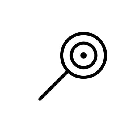 Lollipop outline icon isolated. Symbol, logo illustration for mobile concept and web design.