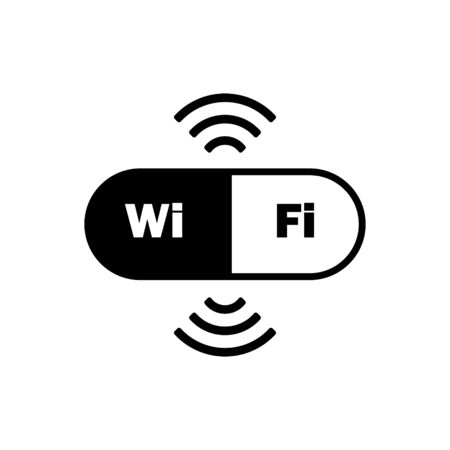 wifi outline icon isolated. Symbol, logo illustration for mobile concept and web design. Vectores