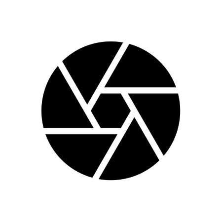 Camera shutter outline icon isolated. Symbol, logo illustration for mobile concept and web design. 向量圖像