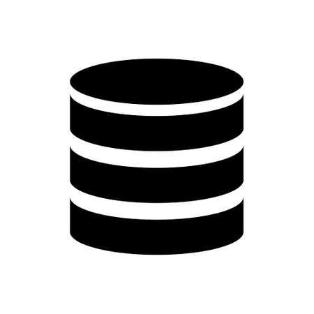 Database outline icon. Symbol, logo illustration for mobile concept and web design.