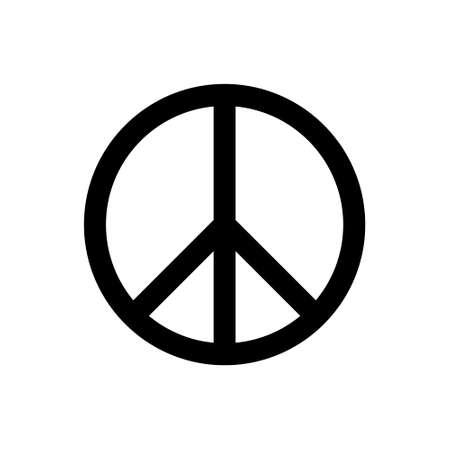 Peace outline icon isolated. Symbol, logo illustration for mobile concept, web design and games.